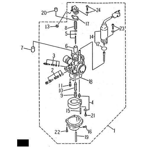 Carburetor (LRX/SMC ATV 50 mini)