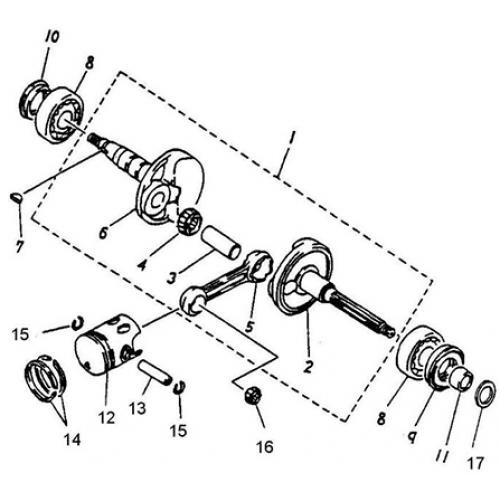 Crankshaft, Piston (Thunder Bike 50)