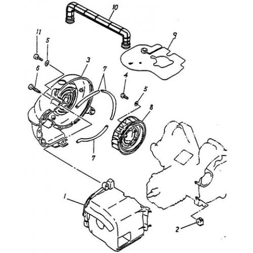 Fan, Air Shroud (Thunder Bike 50)