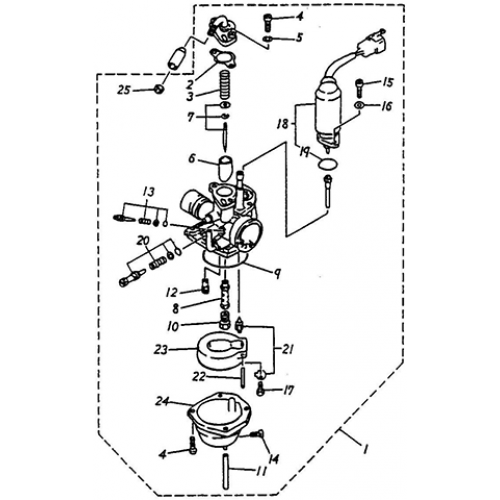 Carburetor (Thunder Bike 50)
