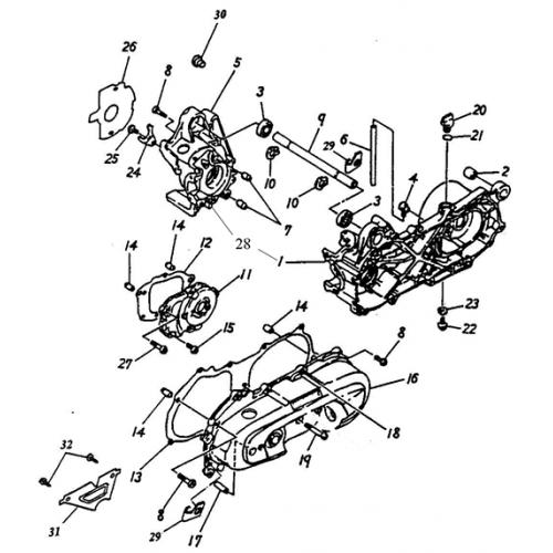 Crankcase (Adly Jet 50)