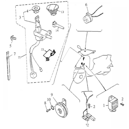 Electrical Equipment (Adly Super Sonic SS-125D) | Adly Thunderbike Scooter Wiring Diagram |  | Kasea Parts Store