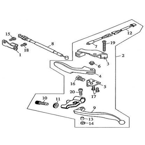 Reverse Gear Lever (Barossa Silverhawk 250) on