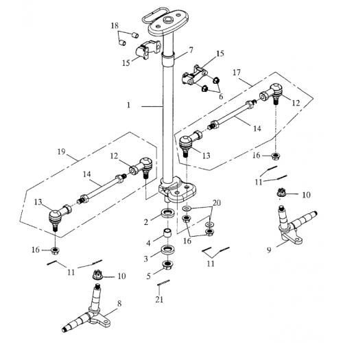Steering (Bombardier Mini DS 90 2T)