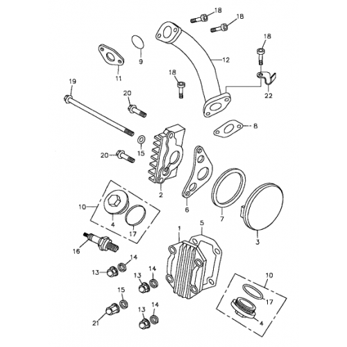 Cylinder Head Cover | Inlet Pipe (Bombardier Mini DS 90 4T 2005-)