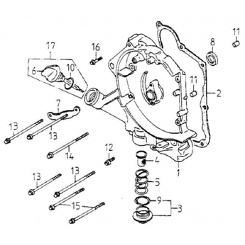 Right Crankcase Cover (Adly GK-125 2009)