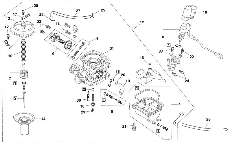 carburetor  kasea lm150iir 2000