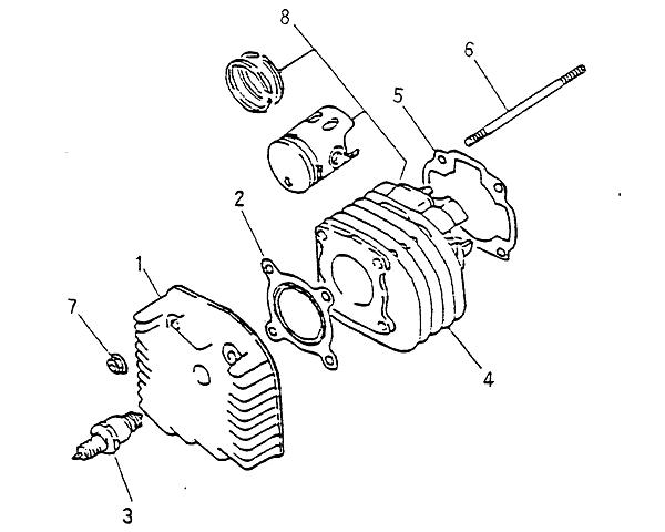 cylinder  cylinder head  blazer 90cc atv