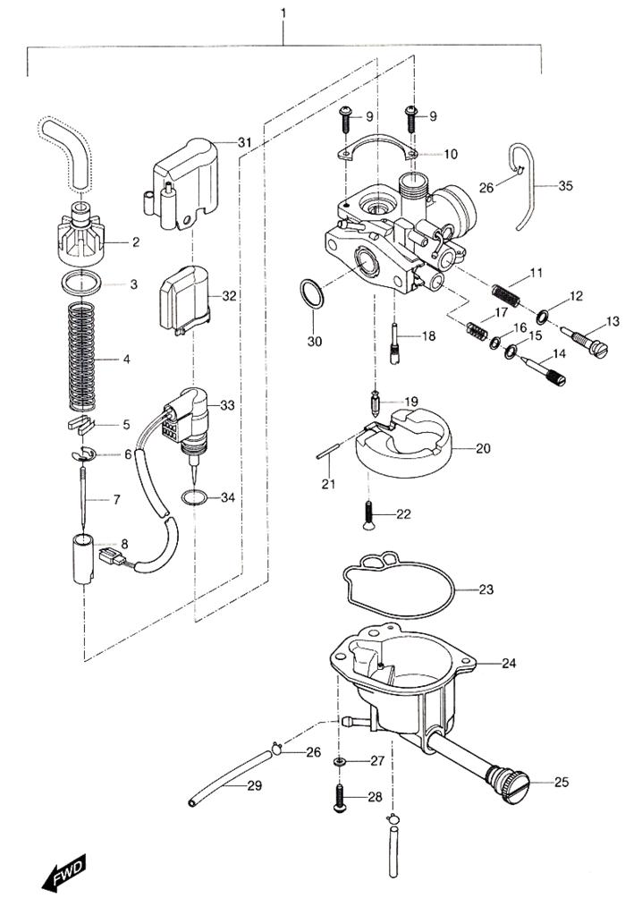 carburetor  hyosung sense sd