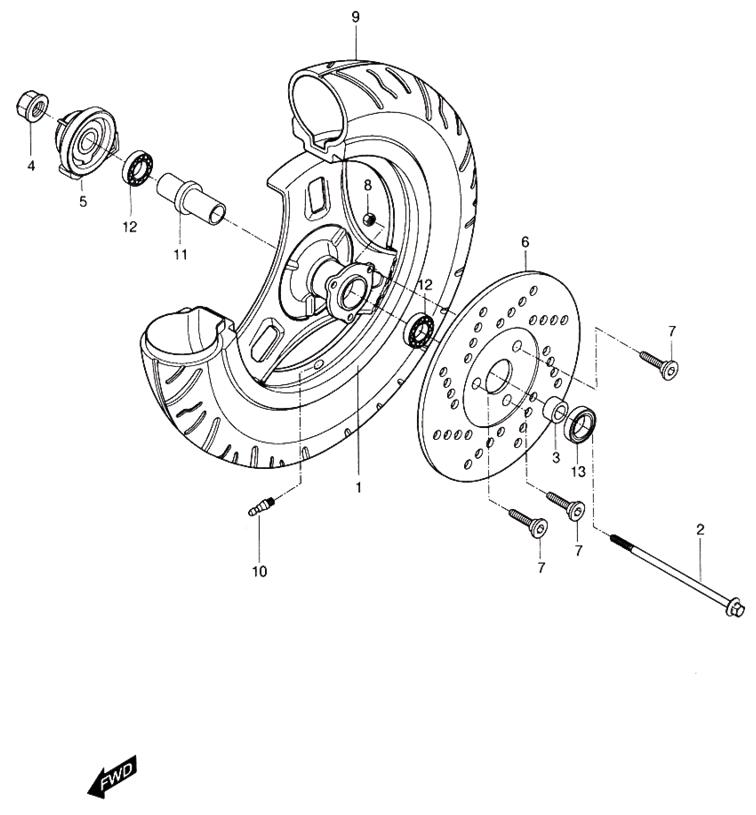 front wheel  hyosung sense sd