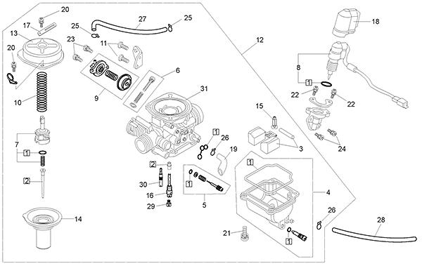 kasea LM150IIR 15 carburetor (kasea lm150iir 2003)